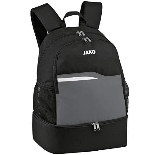 JAKO Unisex Competition 2.0 Rucksack, schwarz/anthrazit, 34x24x48 cm