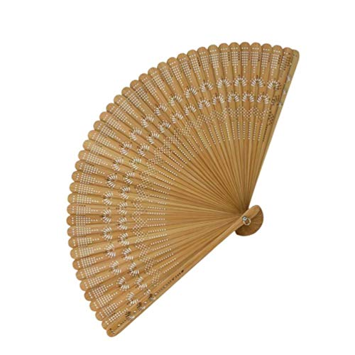 MILISTEN Vintage Bambú Plegable Mano Ventilador Chino Japonés Seda Plegable Abanico para...
