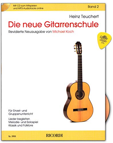La nueva escuela de guitarra Band 2 con CD, audio en línea, Plek – Estándar entre los libros de texto en alemán para guitarra clásica – SY2953 9790204229536
