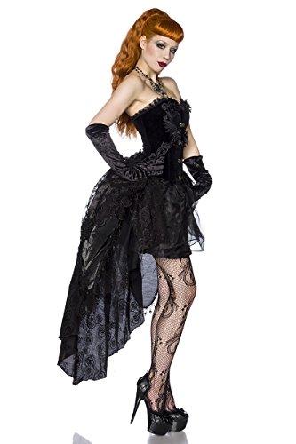 Premium Gothic-Kleid - schwarz - S