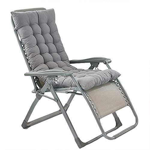 BANNAB Cojín No Chair para Silla de jardín con Respaldo Alto con Cordones de fijación y Correa de sujeción 48 * 122cm Gris