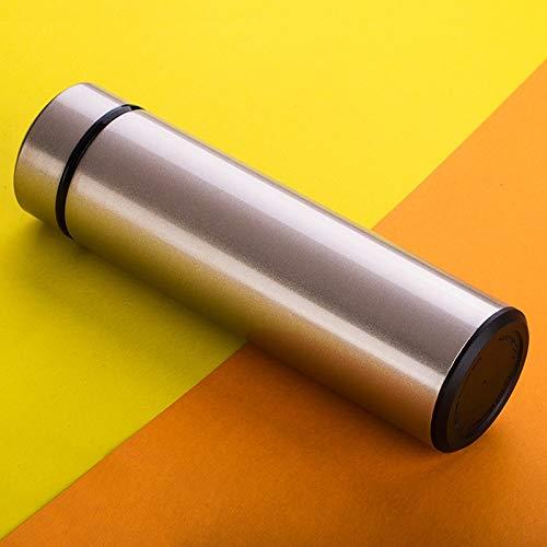 N / A Vacío Termoses Copas 450 ml en el Coche Uso de la Taza del vacío de Negocios de Doble Aislamiento de Calor de Acero Inoxidable Botella retención de Agua (Negro) (Color : Gold)