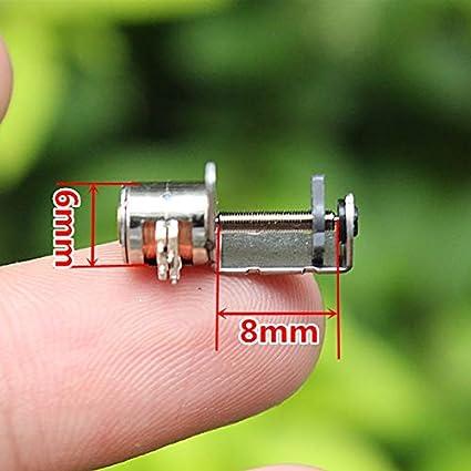 NO LOGO WJN-Motor Taille : 6mm 1pc 2-Phase 4 Fils Micro Miniature Vis Rod Stepper Motor Micro Moteur Pas /à Pas for Les mod/èles de Bricolage Moteur Dia 6 mm avec 8 mm Vis Rod