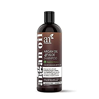 artnaturals Moroccan Argan Oil Shampoo -  16 Fl Oz / 473ml  - Moisturizing Volumizing Sulfate Free Shampoo for Women Men and Teens - Used for Colored and All Hair Types Anti-Aging Hair Care
