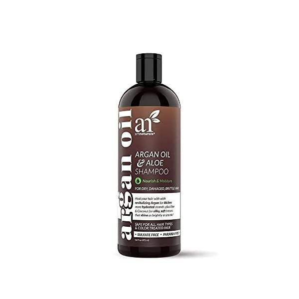 artnaturals Moroccan Argan Oil Shampoo - (16 Fl Oz / 473ml) - Moisturizing, Volumizing Sulfate Free Shampoo for Women… 1