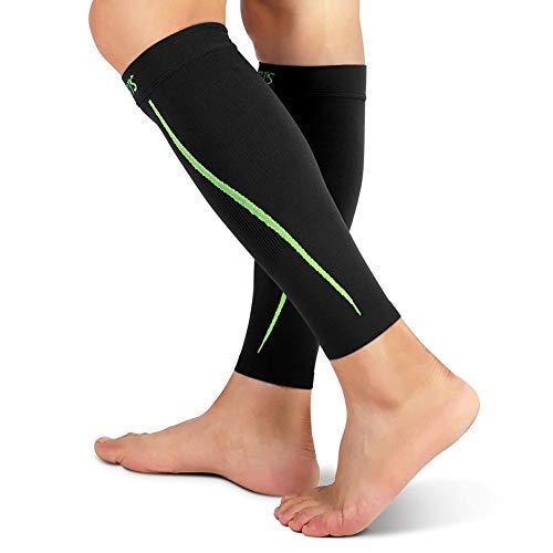 DOACT Wadenbandage für schwere Beine Waden Kompressionsstrümpfe Damen & Herren Waden Kompression für für Schienbeinschiene, Krampfadern, Ödeme 2 Stück Schwarz (S/M)