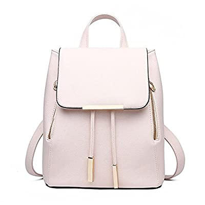 Huabor Fashion Shoulder Bag Rucksack PU Leather Women Girls Ladies Backpack Travel bag