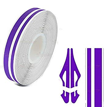 Decal Tape Vinyl Sticker for Vehicle Bodies & Parts Purple 1/8  & 1/5  Twin PIN Stripe PinStriping Decal 32 ft Length for Cars Bumpers Models Helmets Motorcycles Dashboards Bodyworks