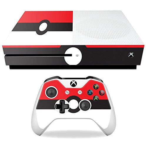 MightySkins Skin Compatible with Microsoft Xbox One S - Battle Ball   Protective, Durable, and Unique Vinyl Decal wrap Cover   Easy to Apply, Remove, and Change Styles   Made in The USA