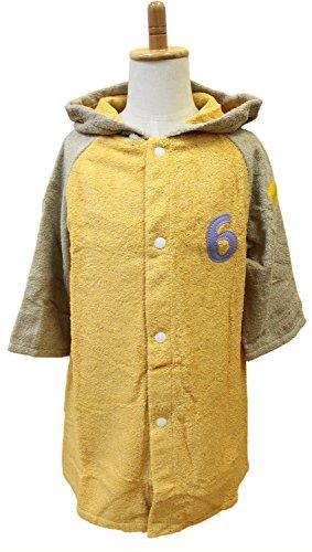 tanaka NUMBER-COLOR 今治タオル キッズバスローブ M 着丈約60×幅42cm イエロー NO.6