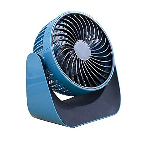 JONJUMP Ventilador de escritorio USB 3 velocidades de ajuste de viento ventilador silencioso 2000 MA rotación 360° Interruptor táctil inteligente batería reemplazable