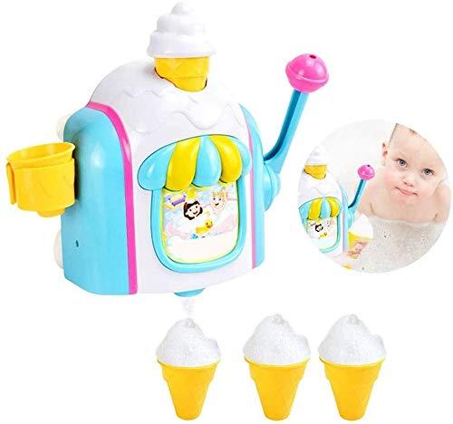 Great Deal! Ice Creams Maker Bubble Machine Bath Toys Fun Foam Cone Factory Bathtub Toy Gift