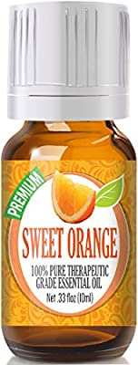 Healing Solutions Sweet Orange Essential Oil - 100% Pure Therapeutic Grade Sweet Orange Oil