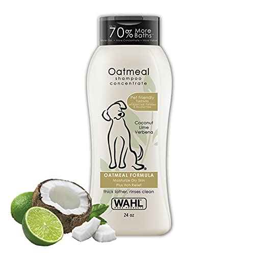 Wahl Dry Skin & Itch Relief Pet Shampoo for Dogs – Oatmeal Formula...