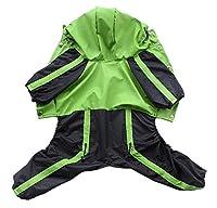 MINGTAI ファッション犬のレインコート小中大犬レインコートペット服ドーベルマンラブラドール防水・ブル・テリアハスキージャケット (Color : Green, Size : L)