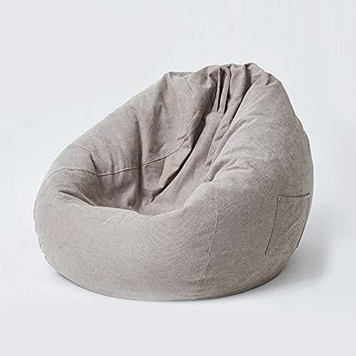 CKRBACY Bolsa de Frijoles Perezosos, Suave y cómoda, con Bolso Acolchado, cómodo de Frijol, Silla de Frijol, sofá, Duradero y cómodo, para Adultos y niños,Gris