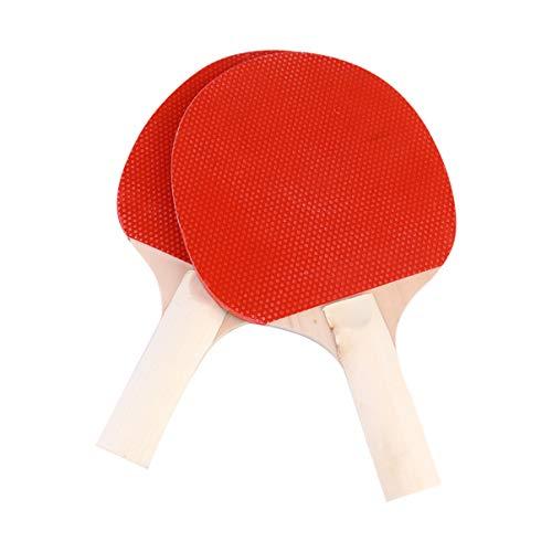 CLISPEED 2 Pcs Ping Pong Paddle Set Profissional Jogo Bolas Acessórios de Treinamento para Jardim de Infância Ao Ar Livre Indoor (Vermelho Preto)