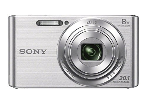 Sony DSCW830 20.1MP Digital Camera with 2.7in LCD (Silver) (Renewed)