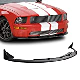[GT-Speed] Compatible/Replacement for CV3 Style PU Front Bumper Lip Spoiler, 05-09 Ford Mustang V8 Bumper Only (Not Compatible with V6 Bumper)