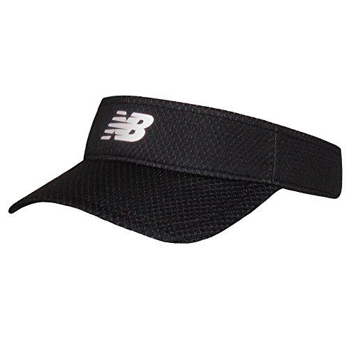 New Balance Adult Performance Sport Visor Headwear, Black, One Size