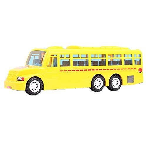 Carga de diversión Big Daddy Big Amarillo Autobús Amarillo Con Luces y Puertas Fresas Puertas Abandonadas Juguete Autobús Escolar de Juguete con Sonidos y Canciones, Adecuado for niñas, niños y niños