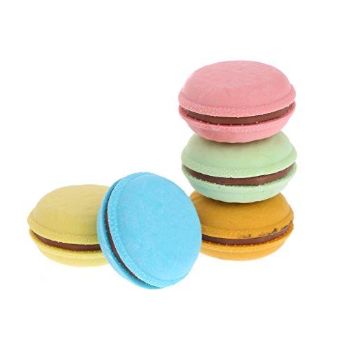 Manyo 5 Stück Radiergummi-Set für Kinder, Radiergummi Kawaii Macaron zum Löschen der Farben Bonbon für verschiedene Kinder, Partys, Partys, Geschenktasche, Schulbedarf, Schreibwaren