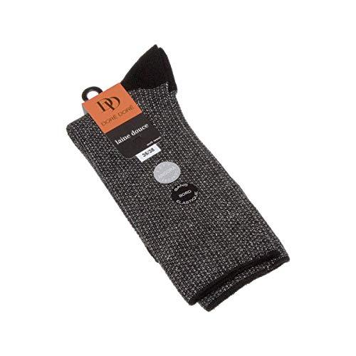 Dore Dore Socke mittelhoch - 1 paar - verstärkte Ferse - Verstarkte zehen - Flachnaht - gummilose - ohne Frotte - Bunte Spitze - Chaude - Viscose - Noir - 36/38