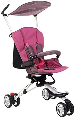 Landaus Poussette Baby Sit Reclining Lumière Pliant 0-3 Ans Bébé Enfant Facile à Transporter Fournitures pour bébé ( Color : B )