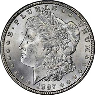 1887 P Morgan Dollar $1 Brilliant Uncirculated