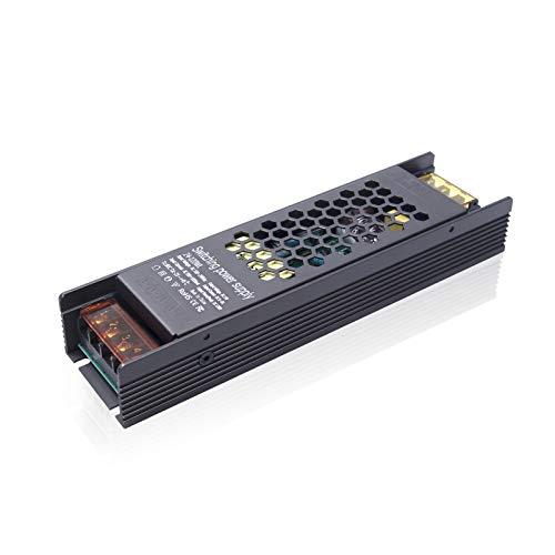 Luxvista 120W Plateado Transformador de Fuente de Alimentación, AC 220V a DC 24V para LED o RGB Tiras, Convertidor de Conmutación Impermeable IP20