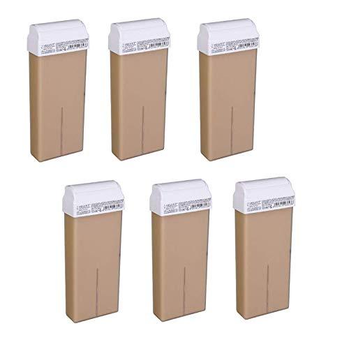 6 cartuchos de cera caliente Micromica Nacree, 6 unidades de 100 ml cada una. Fabricado en Italia.