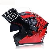 QAZX Casco de motocicleta con tapa modular estándar DOT/ECE para adultos y hombres y mujeres