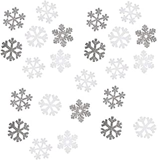 Glittery Foam Holiday Decor - Snowflakes Stickers  - 24 Pieces