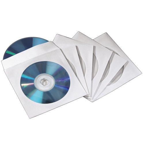 Hama CD /DVD Papier Doppelhüllen weiß 50er Pack