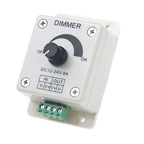 Regulador de intensidad - SODIAL(R) DC 12V-24V LED Regulador de intensidad Controlador Ajuste de color unico Para 5050 3528 Tira LED