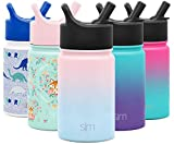 Simple Modern 10oz Summit Kids Water Bottle Thermos with Straw Lid - Dishwasher Safe Vacuum Insulated Double Wall Tumbler Travel Cup 18/8 Stainless Steel - Ombre: Sweet Taffy