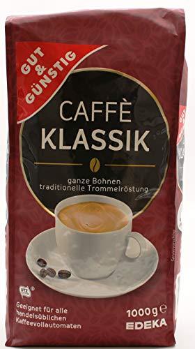 Gut und Günstig Caffee Klassik ganze Bohnen, 8er Pack (8 x 1 kg)