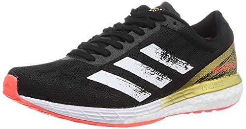 adidas Adizero Boston 9 W, Zapatillas de Running Mujer, Core Black FTWR White Gold Met, 40 EU