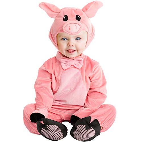 Spooktacular Creations Baby Unisex Piggy Costume for Halloween Party (Small (6-12 Months)) Pink