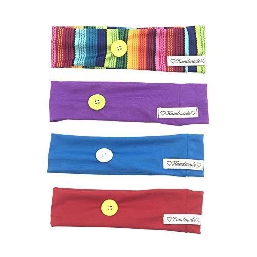 4pcs Bandeau de Cheveux Multicolore Bandeau Sport Bandeau Elastique Bandeau Coton Bandeau Running Bandeau Transpiration Convient Aux Adolescents, Fill