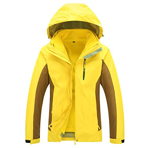 DUBAOBAO Dames 3-in-1 Jack, Wandelvissen Camping Road Herfst Winter Warm Seizoen Jack, Lange Mouw Warm Waterdichte Ski Suit Mountaineering Jas