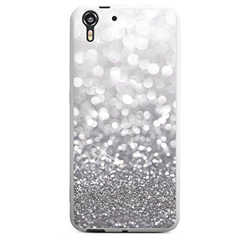 Silikon Hülle kompatibel mit HTC Desire Eye Case Schutzhülle Glitzer Erscheinungsbild Weihnachten Geschenk für Frauen