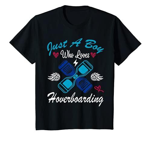 Niños Sólo un niño que ama Hoverboarding Idea Divertida Para Hoverboard Camiseta