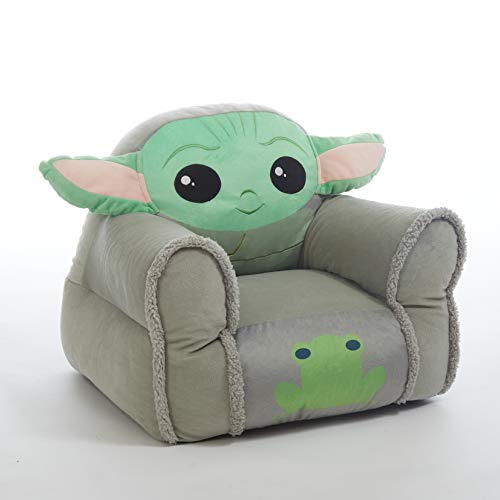 Idea Nuova Star Wars: The Mandalorian Featuring The Child Figural Bean Bag Chair with Sherpa Trim, Ages 3+