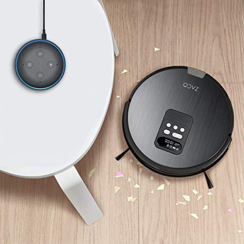 ZACO V85 Saugroboter mit Wischfunktion, App & Alexa Steuerung, 8cm flach, automatischer Staubsauger Roboter, 2in1 Wischen oder Staubsaugen, für Hartböden, Fallschutz, mit Ladestation - 5