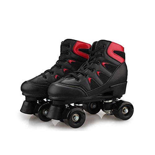 Longxs Rollerskates, Eisbahn professionelle Coole LED blinkende Rollschuhe Zweireihige Rollschuhe Erwachsenensport für Mädchen und Jungen-39