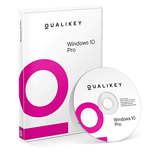 Windows 10 Pro - QUALIKEY - Vollversion | Windows 10 Professional 64 bit / 32 bit inkl. aller Updates | Installations DVD + Lizenzdokumente per E-Mail