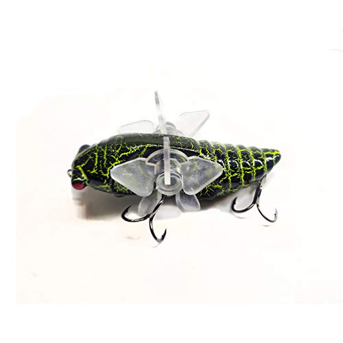 East Rain Artificial Cicada Fishing Lures with Rotating Spins...