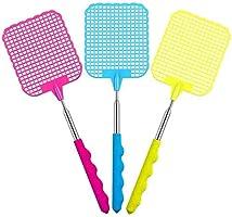 JZZJ Extendable Fly Swatter, Flexibele Handmatige Swat Fly Prevent Pest met Duurzame Telescopische Handgreep, 3 Pack...