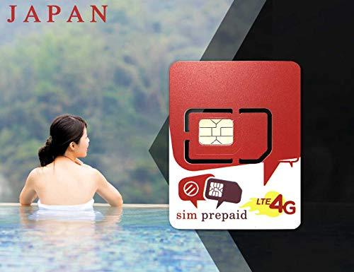 Japan Travel Prepaid-SIM-Karte – 1 GB 4G und unbegrenzte 2G-Daten – 8 Tage